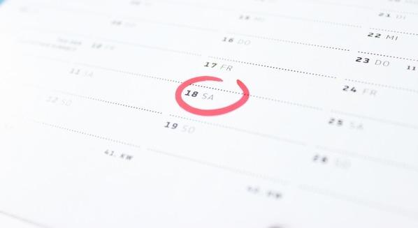 Calendário do ciclo menstrual