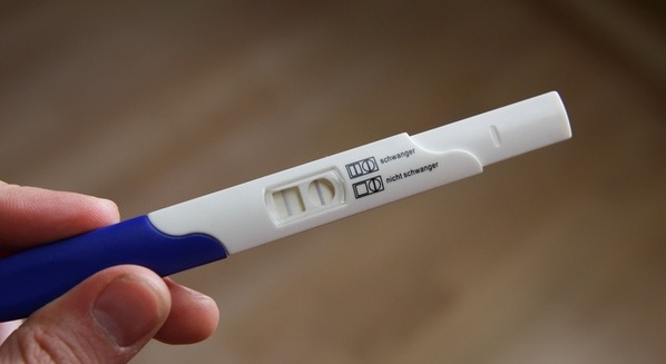 Teste de gravidez de farmácia
